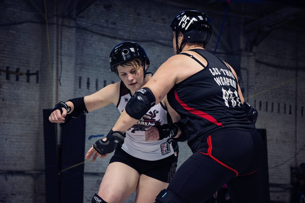 Roller Derby Action Shot